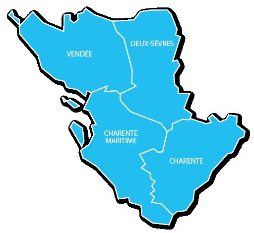 Carte de la zone d'intervention de Lorillou